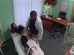 Sexy Kristyna gets fucked by the doctor