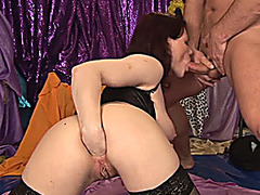 own hand extreme deep in her ass
