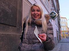 European gal Karol twat drilled for cash