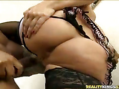 Lea gets drilled from behind.