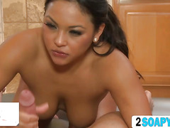 Compilation of top five best scene of soapy massage