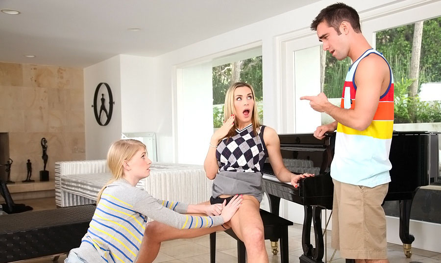 Piano teacher tanya pleases her student