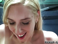 Czech girl Ellen flashes tits and banged