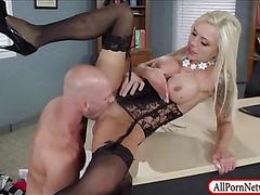 Huge boobs boss Nina Elle pussy banged