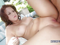 Sexy Sasha Summers receives internal cum