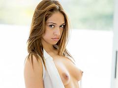 Puffy tits Sara Luvv hot sensual fuck