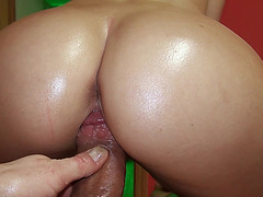 Karol Lilien flashes big rack and fucked