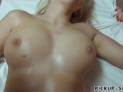 Busty blonde Czech babe Karol Lilien gets banged for money