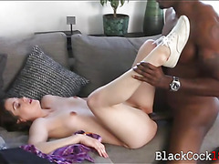 Kasey Warner fucked by huge black cock to pay her dads debt