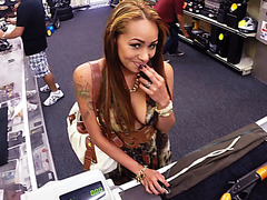 Super hot and busty Latina gets fucked for 500 bucks at the pawnshop