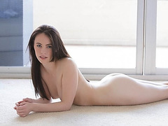 Sexy brunette Veronica Radke gets fucked hard by her boyfriend inside his house
