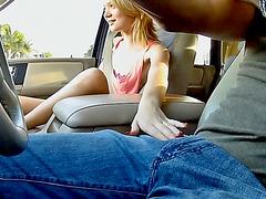 Stranded Dakota Skye fucked in the van
