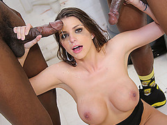 Big tits whore Brooklyn Chase facialized