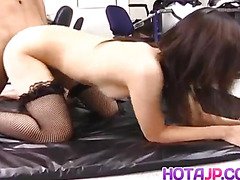 Satomi Maeno gets cocks to lick before is pumped in fish taco