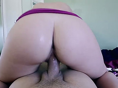 Sultry Summer Lace jizzed on her big ass