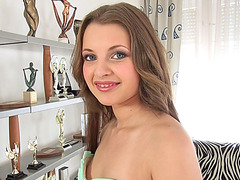 Gorgeous Russian teen Leona gets wet pussy rammed hard by Rocco