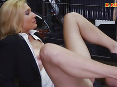 Sexy blonde Milf fucked and gets payed