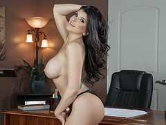 Smoking hot coed Romi Rain fucked hardly in the office visit bzhotporns.com