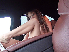 Cutie Taissia with a cake spotted and gets fucked for a lift back home