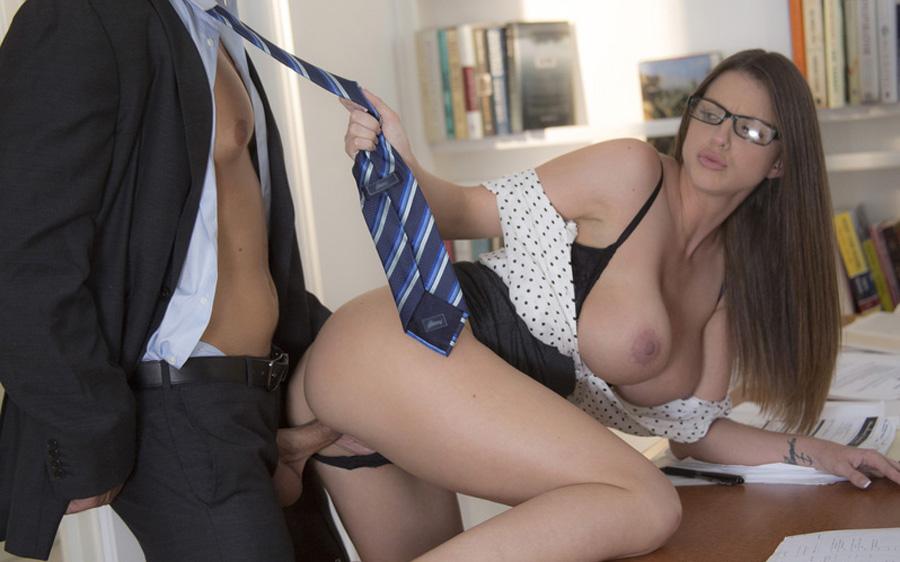 Hot Secretary Bridgette Getting Fucked Hard By Her Boss 1