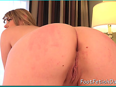 Alice strips and shows her total body