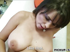 Busty waitress Chintia Doll paid for sex