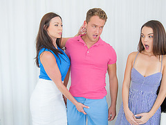 MILF Kendra Lust and her student Dillion make a threesome scene