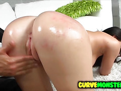 Kymberlee Anne oiled up for big schlong