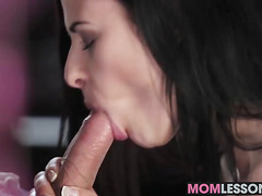 Horny Abrill Gerald and Billie Star have fun with a stud