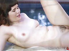 Asian sweetie Yhivi gets banged by big black dick outdoors