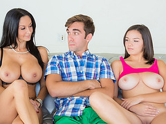 Stepmom sets up 3some with her daughter