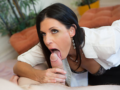 Hot Kacy shares cock for threesome sex with her stepmom India