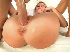 Mandys lucious ass gets fingered and spanked by a big cock