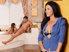 Sexy Stepmom India gets fucked from behind and receives facial