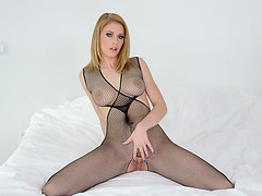 Provocative chick Allie gets banged by Mikes titan shaft