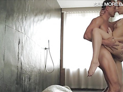 Tight Nataly Von fucked in shower room