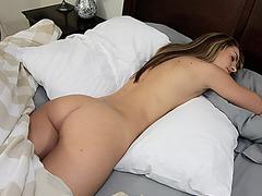 Horny chick Kimmy Granger sucking a cock hard pole