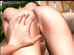 Anime hottie gets fingered and deep fucked