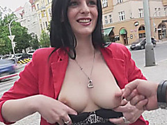 Eurobabe Alice Nice nailed and facialed for some money