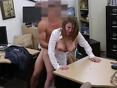 Big tittied milf gets hardcore doggy style fucking after sucking a big dick