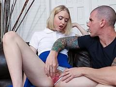 Very horny and curious Chloe gets filled with warm cum