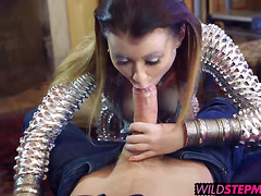 Michelle Thorne and Misha Cross sharing lucky dudes cock