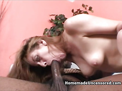 Amateur slut rides a big black dick