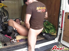 MILF Valentina Ross has anal sex in a van