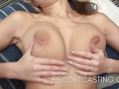 Natural D Cup Escort Gets Anal