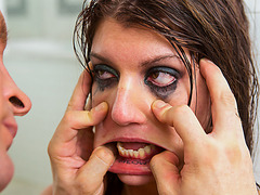 Cassandra Nix brutally fucked until her mascara is a mess