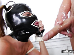 Nasty lesbos fill up their big bums with cream and squirt it out