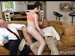 Old guys with erectile dysfunction fuck around with pretty amateur
