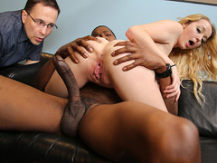 Iris Rose gets creampied by BBC in front of her erotic